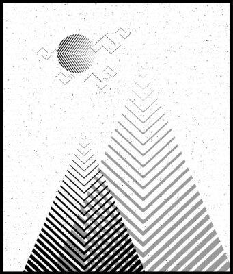 Adesivo Vector triângulo geométrico de fundo, montanhas abstratas. Contexto conceptual, com montanhas. Design fino, com elementos mínimos. Utilização para cartão, cartaz, brochura, banner. Impressão de interi