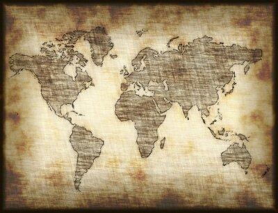 Adesivo velho mapa