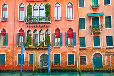 Adesivo Veneza, edifícios, grandioso, canal