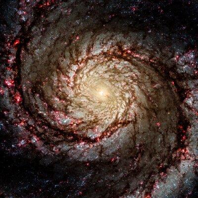 Adesivo Ver imagem do sistema Galaxy isolado Elementos desta imagem fornecidos pela NASA
