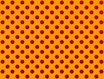 Adesivo Vermelho, polca, ponto, laranja, fundo