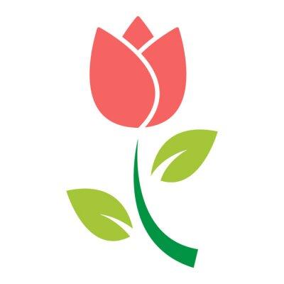 Adesivo vetor de ícone de flor tulipa
