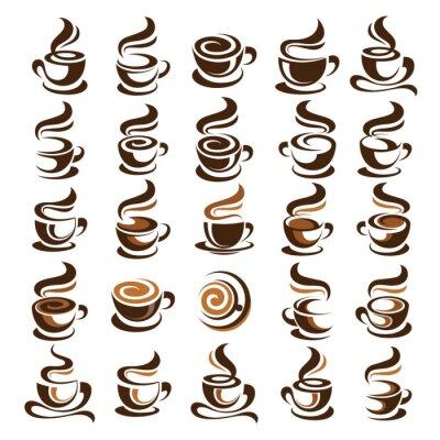 Adesivo Vetor do copo de café