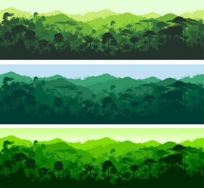 Adesivo Vetorial, seamless, tropicais, floresta tropical, selva, fundo