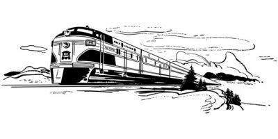 Adesivo Viagem de trem