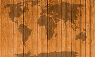 Adesivo Vindima, mapa, madeira, textura, fundo