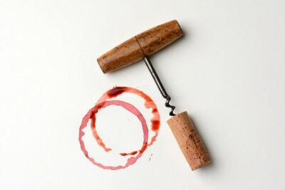 Adesivo Vinho mancha e Antique Corkscrew