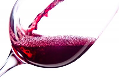 Adesivo Vinho vermelho no fundo branco