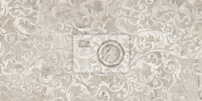 Adesivo vintage background with floral damask pattern