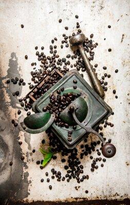 Adesivo Vintage moedor de café com pilão