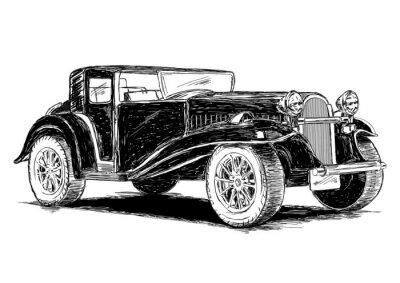 Adesivo Vintage retro clássico carro velho ilustração vetorial