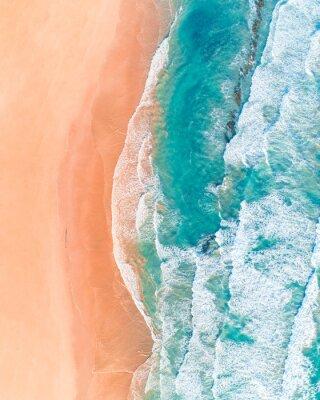 Adesivo Vista aérea da bela praia australiana ao longo da Great Ocean Road, Victoria, no verão