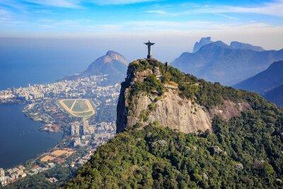 Adesivo Vista aérea de Cristo Redentor e cidade do Rio de Janeiro