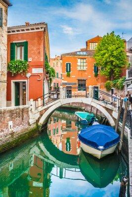 Adesivo Vista do cartão de Veneza, Italia
