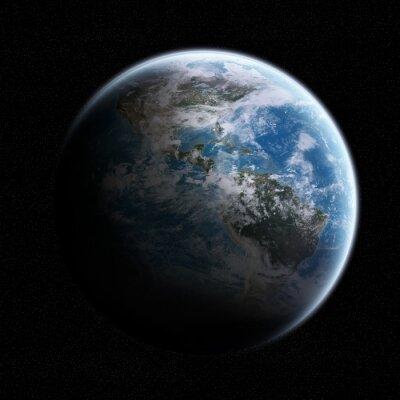 Adesivo Vista do planeta Terra no espaço