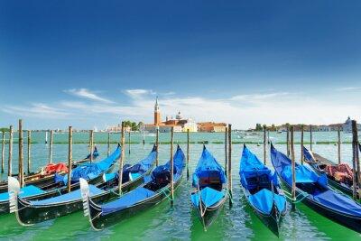 Adesivo Vista, gôndolas, Venetian, lagoa, veneza, itália