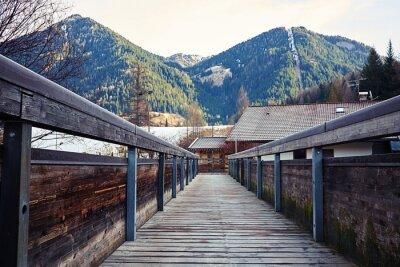 Adesivo Vista sobre as montanhas da ponte