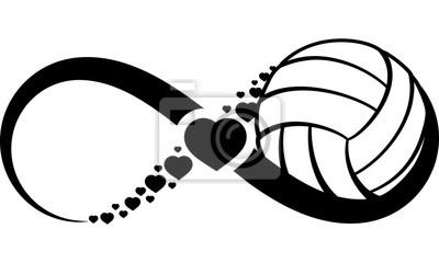 Adesivo volleyball-heart-infinity4