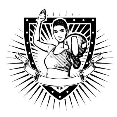 Adesivo volleyball shield