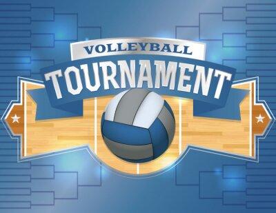 Adesivo Volleyball Tournament Design Poster de Ilustração