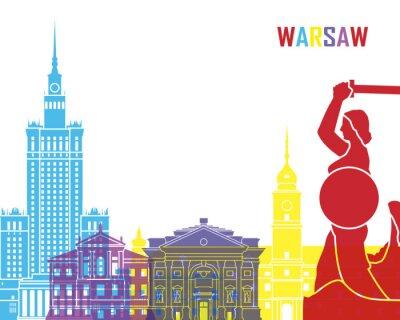 Adesivo Warsaw skyline pop