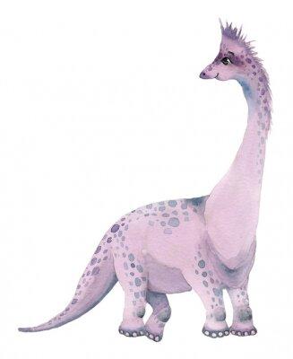 Adesivo Watercolor dinosaurs brontosaurus