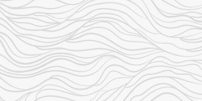 Adesivo Wavy background. Monochrome backdrop with curved stripes. Repeating abstract waves. Stripe texture with many lines. Black and white illustration