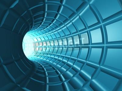 Adesivo Web Tunnel - Um túnel radial com uma perspectiva em forma de rede.