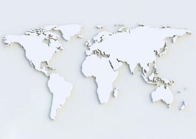 Adesivo Weltkarte 3D - 3D mapa do mundo