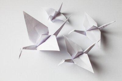 Adesivo White crane handmade