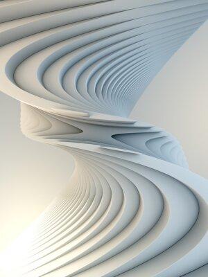Adesivo White stripe pattern futuristic background. 3d render illustration