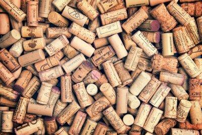 Adesivo Wine corks background