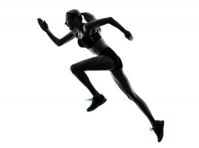 Adesivo woman runner running jogger jogging silhouette