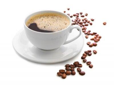 Adesivo Xícara de café isolado no branco