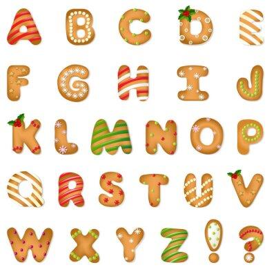 Adesivo Xmas Biscoito de Gengibre Alphabet