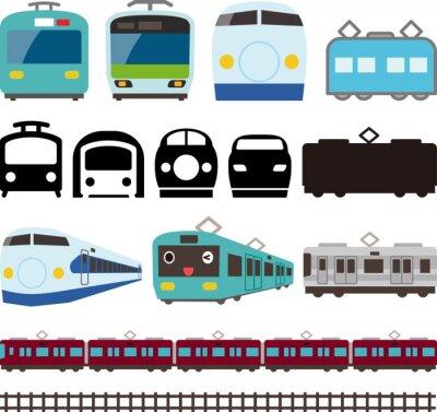 Adesivo 電車 と 新 幹線 の ア イ コ ン と ラ イ ン
