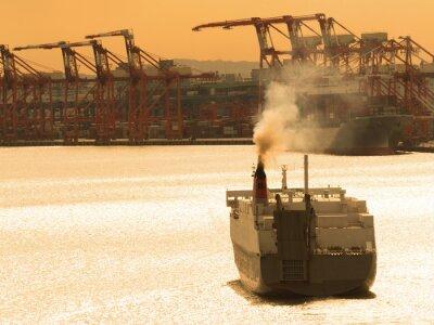 Adesivo 出航 す る 貨物 船