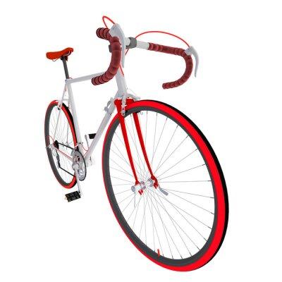 Adesivo Велосипед на белом фоне