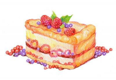 Adesivo Торт с ягодами