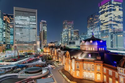 Adesivo 東京 駅 夜景