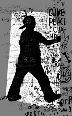 Adesivo Уличный художник