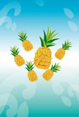 Adesivo パイナップルとアクアのイメージ