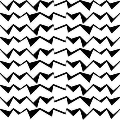 Adesivo Seamless, pretas, e, branca, decorativo, vetorial, fundo, com, abstratos, geomã ©'ric, Padrão