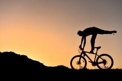 Adesivo Sıradışı bisikletçi silüet