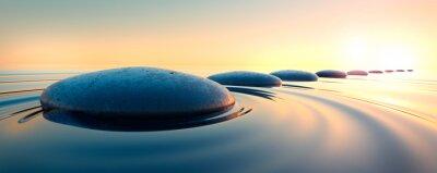 Adesivo Steine im Wasser 3