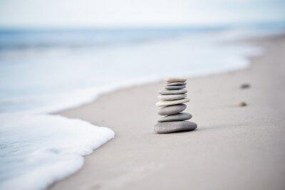 Adesivo Yoga - Bem Estar - Steine am Nordseestrand