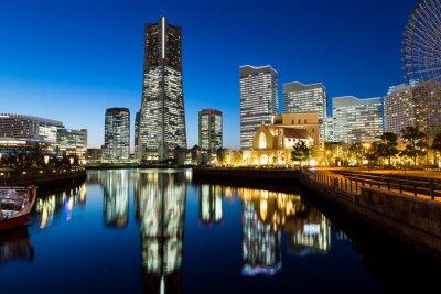 Adesivo Yokohama cityscape à noite
