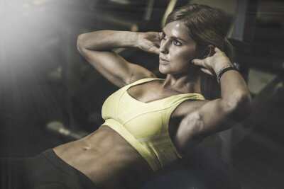Adesivo Young fit woman excecising ingym