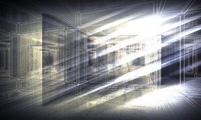 Fotomural 3 d de fundo, perspectiva wire-frame ver