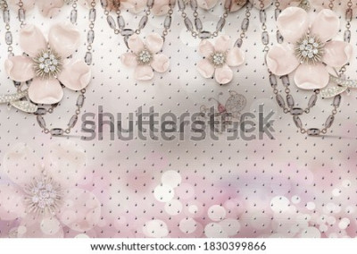 Fotomural 3d flower wallpaper 3d background- Illustration